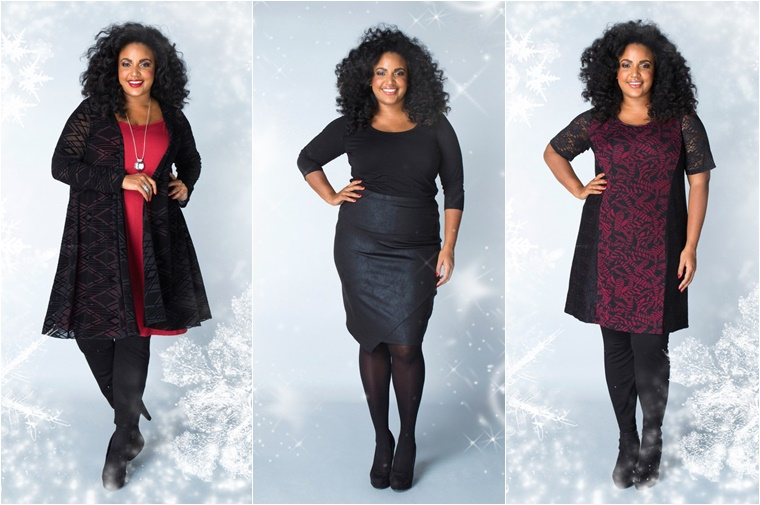 x two kerst outfits 1 - Christmas Countdown | X-two Kerst outfits (plussize fashion)