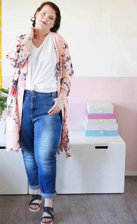 kimono jacket plussize 2 - Outfit of the day | The kimono jacket ♥