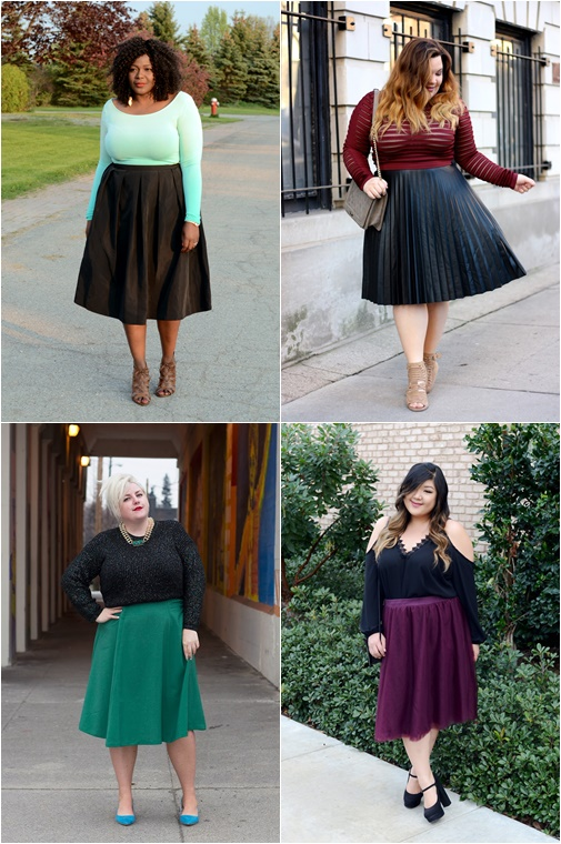 midi skirt plus size happyskirtt