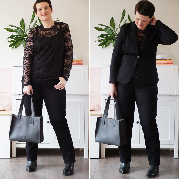 all black party outfit 1 - Plussize Fashion | All Black Party Outfit