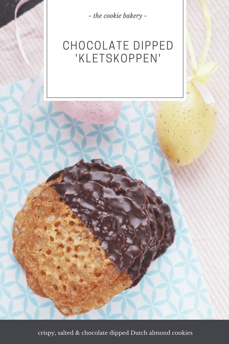 chocolade kletskoppen recept 2 - The Cookie Bakery | Chocolate dipped kletskoppen