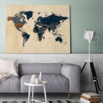 Interieur | Een mooie wereldkaart op canvas aan je muur