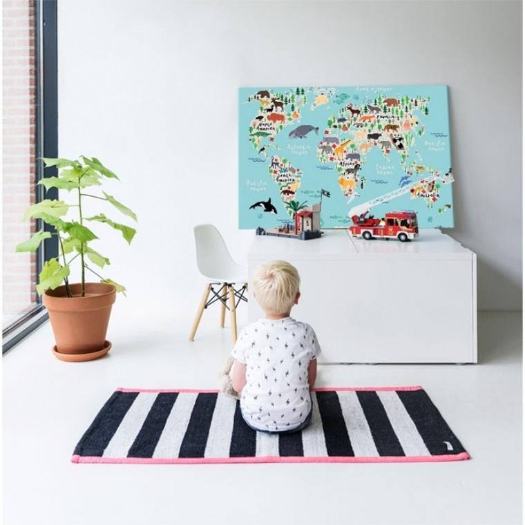 wereldkaart op canvas 4 - Interieur | Een mooie wereldkaart op canvas aan je muur