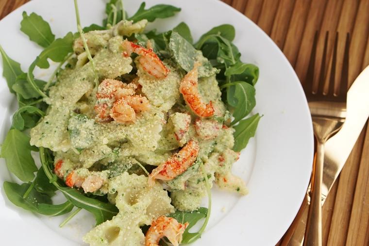 pasta courgetteroom rivierkreeftjes recept 1 - Pasta met courgetteroom en rivierkreeftjes