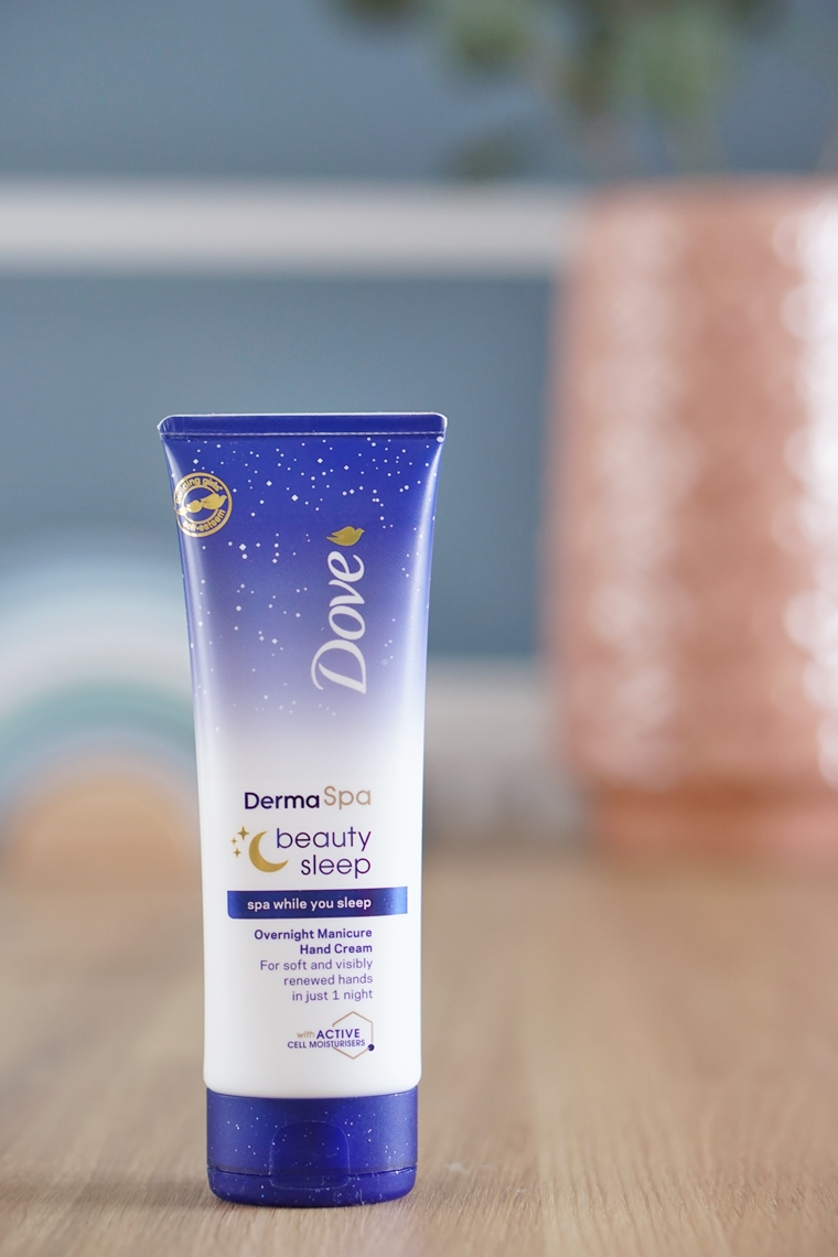 dove dermaspa beauty sleep overnight manicure hand cream handcrème review