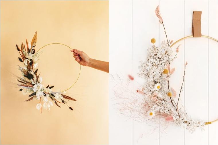 droogbloemen krans 1 - Home | 3x droogbloemen in je interieur