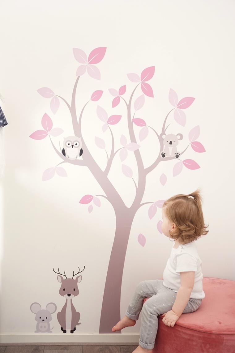 muurstickerstunter ervaring muursticker 3 - Cate's room | Een leuke bloesemboom muursticker