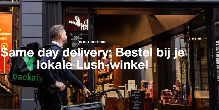 lush same day delivery packaly - Lush same-day delivery bezorgdienst + Valentijnscollectie 2021