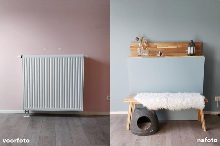radiator ombouw diy zelf maken 2 - Home | Het resultaat van de DIY radiator ombouw