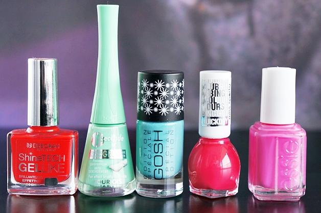 5 zomerse nagellakjes 1 - Zomerse nagellak van Essie, Bourjois, GOSH, Deborah Milano & Miss Sporty