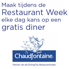 ChaudfontaineRestaurantWeek - Maak elke dag kans op een gratis diner met Chaudfontaine