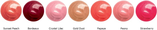 Colorburst Lipgloss swatches - Revlon Colorburst Lipgloss