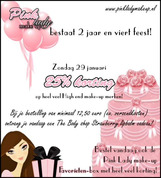 Flyerverjaardagpinkladymakeup - Pink Lady Make-up bestaat 2 jaar!