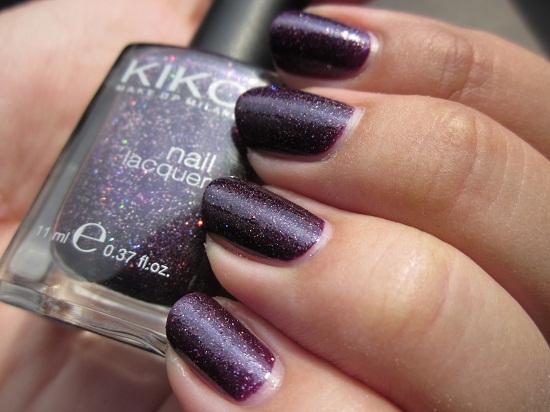 KIKO 255 4 - NOTD: KIKO 225 Viola Microglitter
