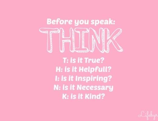 THINK1 - Question | Altijd maar zeggen wat je denkt?