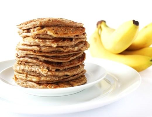 banana peanutbutter pancakes - Recept | Banana peanutbutter pancakes