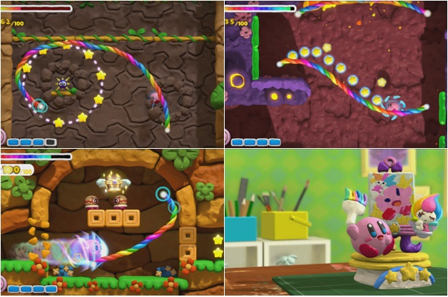 Nintendo Wii U Kirby and the rainbow paintbrush review
