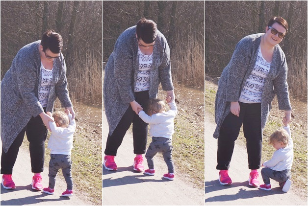 mini me plussize outfit nike rayban 3 - Mini & Me outfit | A touch of hot pink