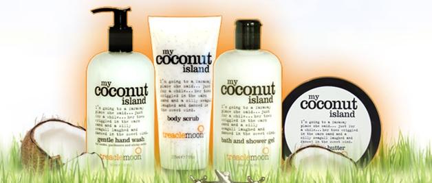 my coconut island products - Newsflash! | Treacle Moon bodycare