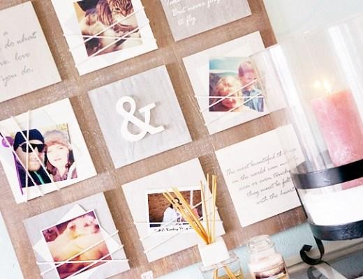 otto interieur fotolijst quotes 1 - Love it!   Wandbord met quotes & foto's