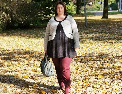 outfitberryshinyautumn1 - Plussize outfit | Berry shiny autumn