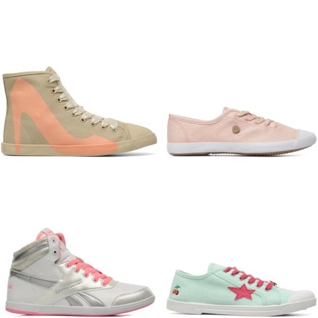 sarenza1 - Inspiratie | Pastelkleurige sneakers