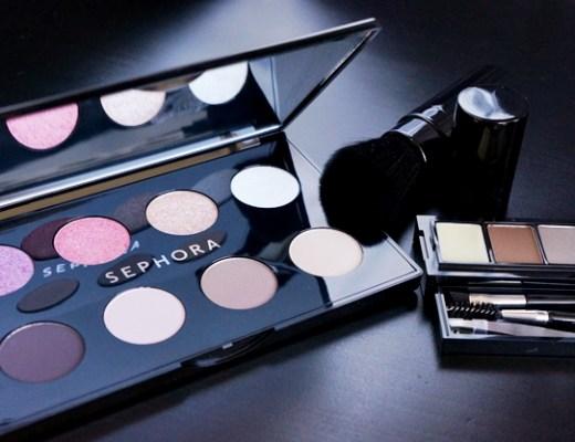 sephora look 1 - Sephora wenkbrauwkit, travelbrush & palette