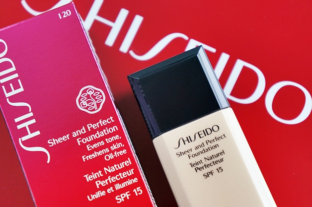shiseido sheer and perfect foundation lacquer rouge 2 - Shiseido sheer and perfect foundation & lacquer rouge