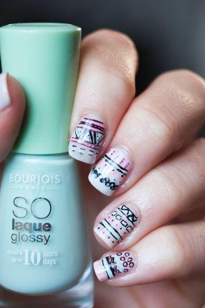 summer nail art inspiratie 5 - Inspiratie | Soft summer nail art