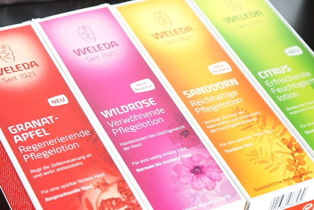 Weleda introduceert 4 biologische bodylotions