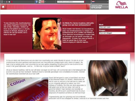 wellaproprintscreen - Wella Pro Series Academy Ambassadeur / Geniet langer van je (nieuwe) haarkleur!