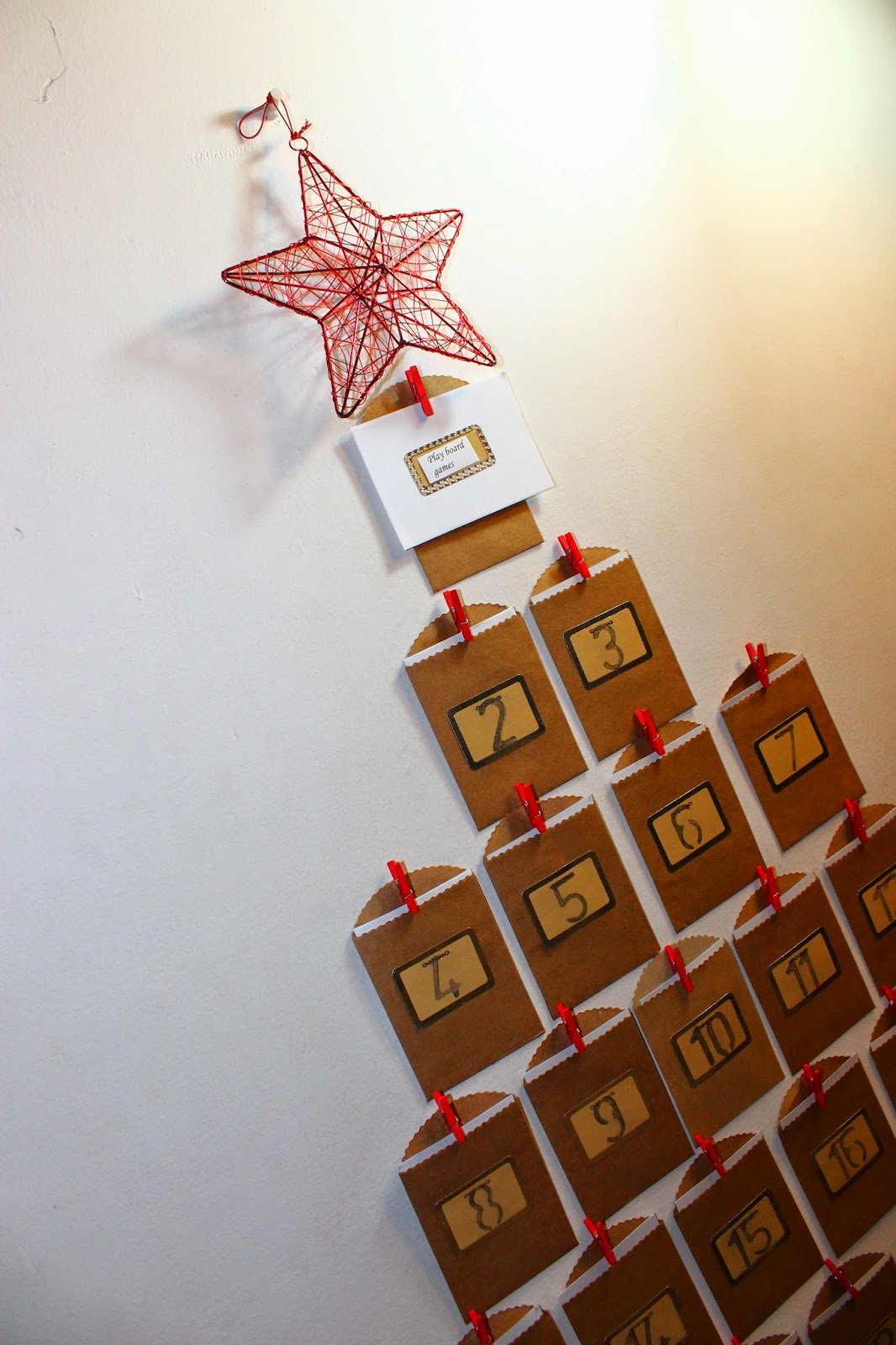 Holiday Home DIY Advent Calendar Curvatude