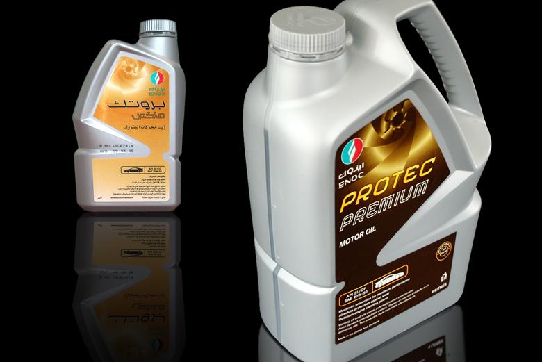ENOC Lubricants Dubai - Motor Oil Bottle Design
