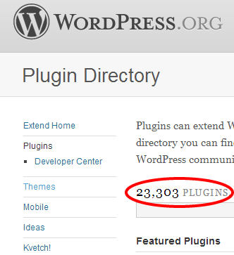 Wow, there are more than 23,000 plugins!