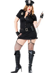 plus size cop costume