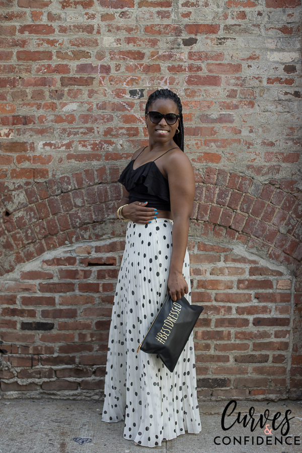 how curvy girls dress, curvy style blogger, curvy and fit blogger, midsized blogger, miami style blogger, black girl magic, how curvy girls dress, asos polka dot maxi skirt