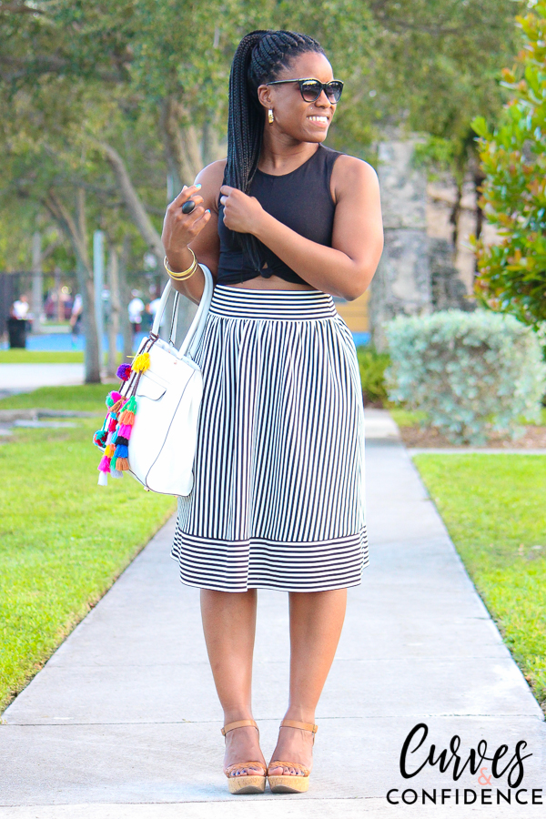 curves-and-confidence-f21-black-white-skirt-and-crop-top