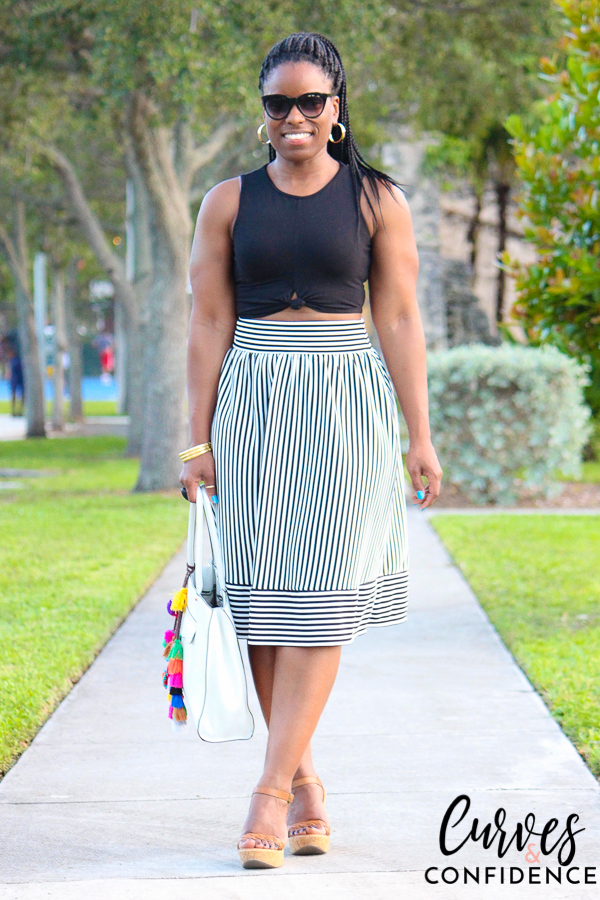 curves-and-confidence-f21-high-waist-midi-skirt-and-crop-top