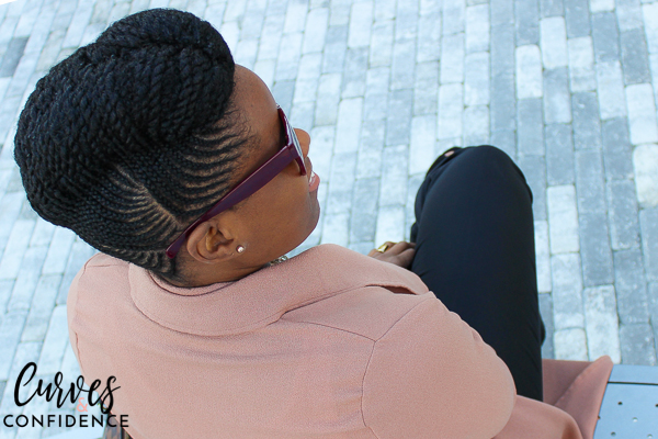 Curves and Confidence: Natural Hair Braided Updo
