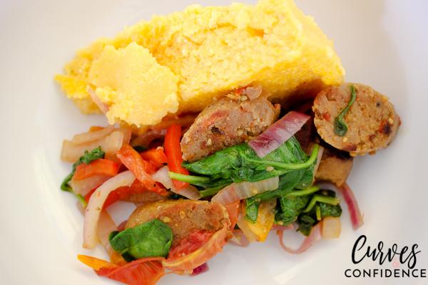 Curves and Confidence: Curves and Confidence: Zoodles Marinara and Field Roast Italian Sausage