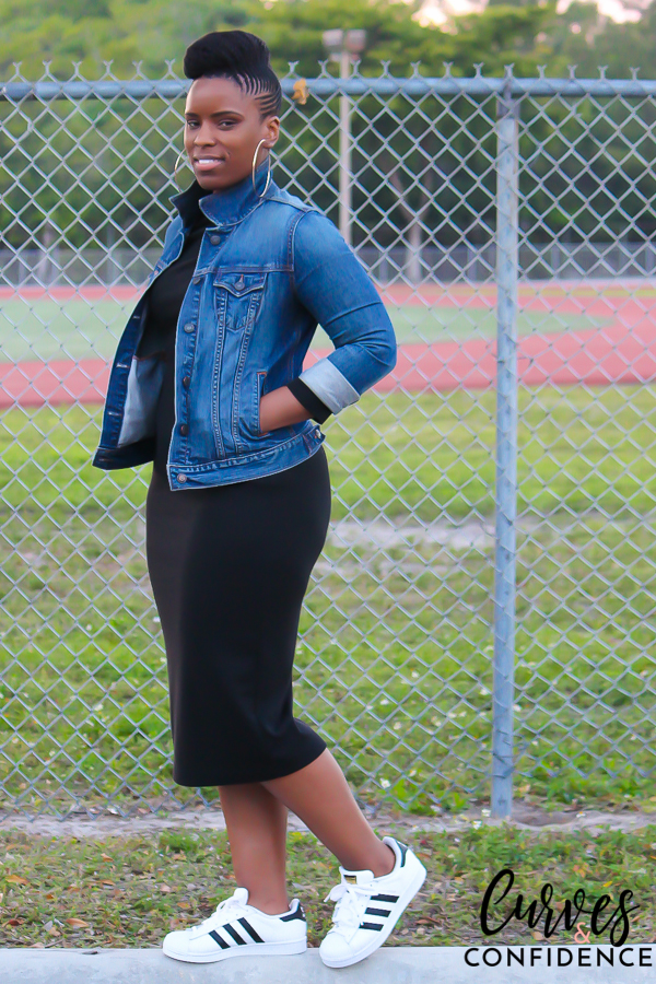 Curves and Confidence: Weekend Wear - Adidas Original Superstar