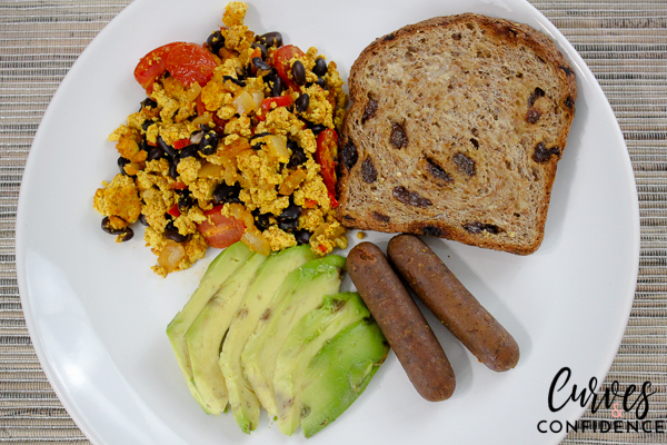 Curves and Confidence: Southwest Scramble and Field Roast Apple Maple Breakfast Sausage