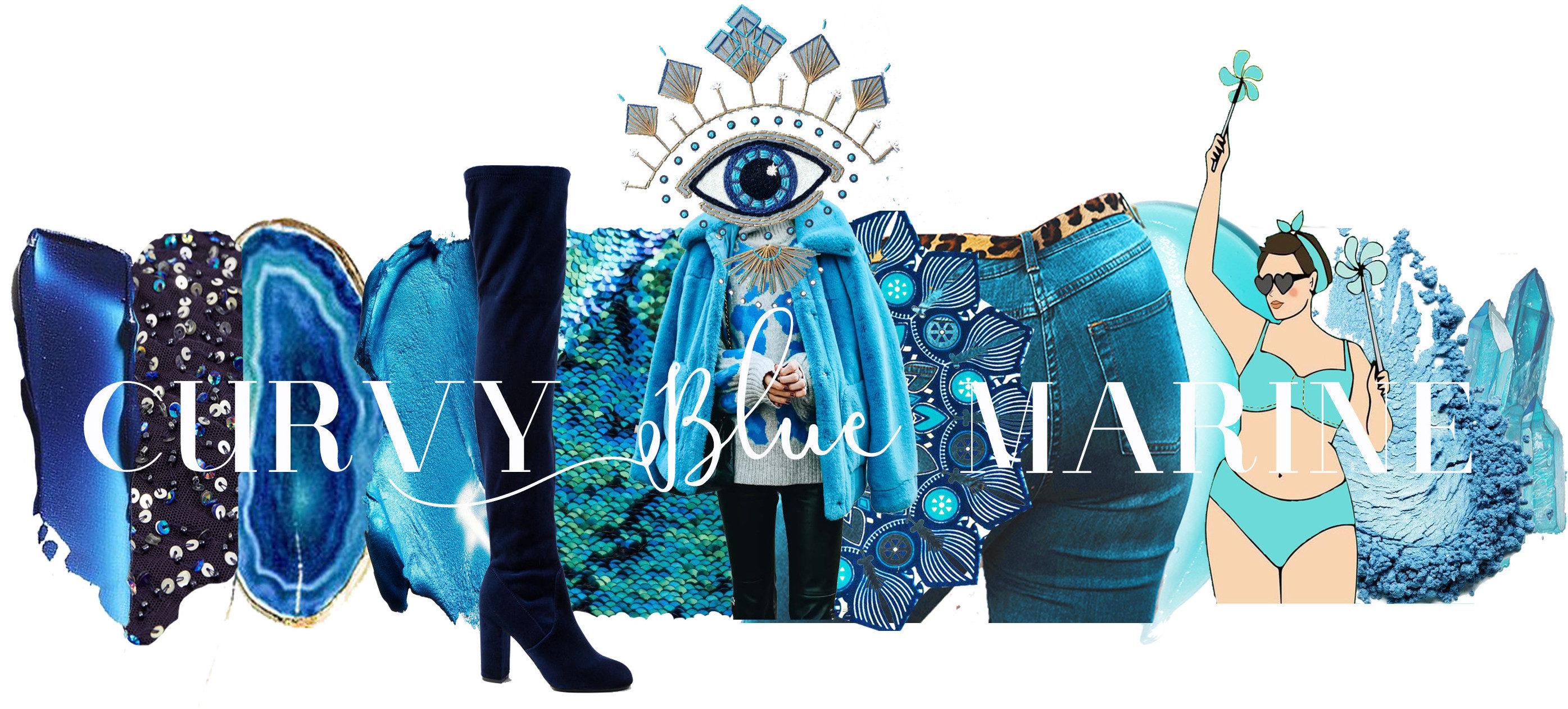 Curvy Blue Marine