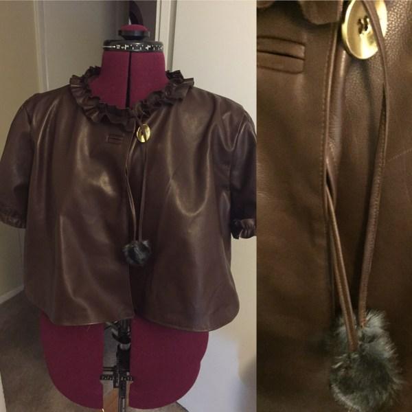 McCalls 7257 Self made ruffles, bound buttonholes, fur puff