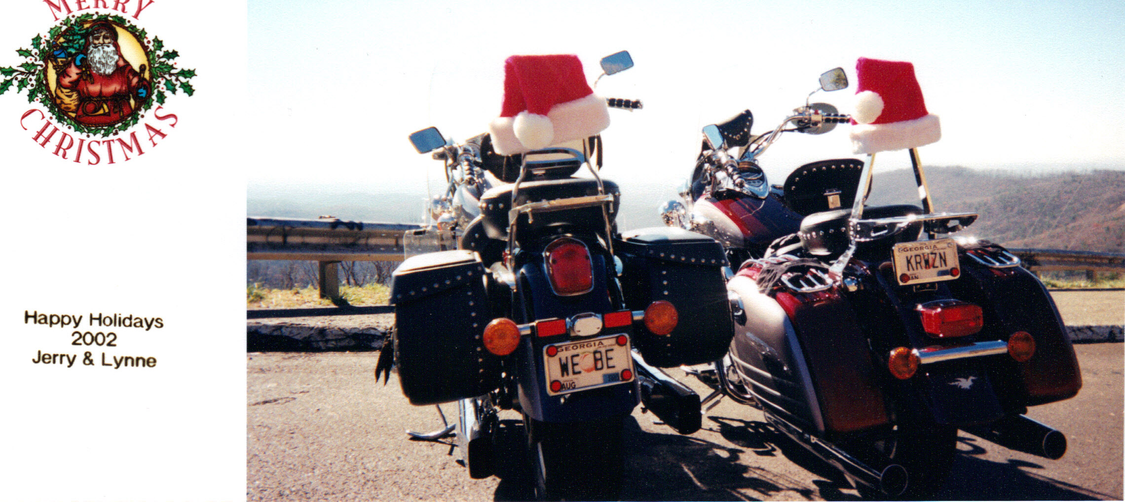 A Trip Back In Christmas Card Timemotorcycle Style