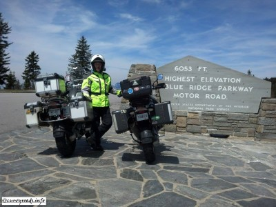 Highest point on the Blue Ridge Pkwy