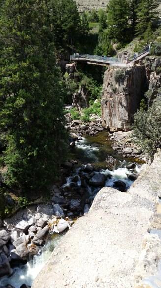 Shell Canyon looking back toward the falls