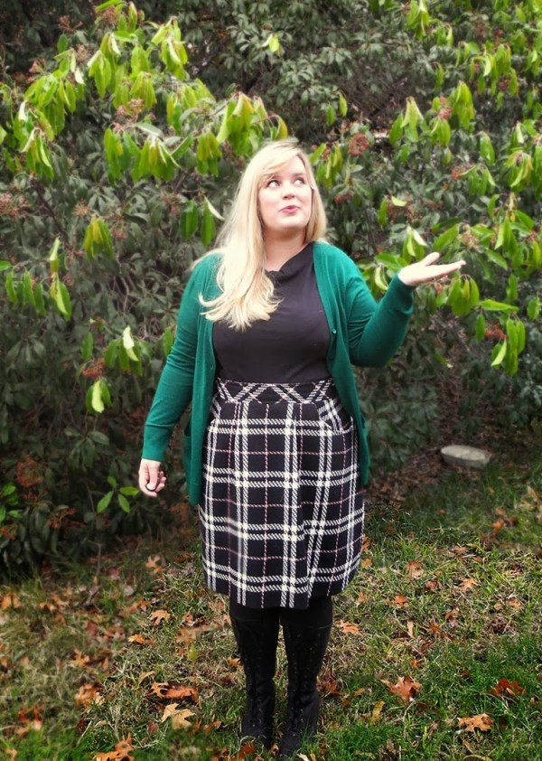 Plaid Peggy Skirt 054