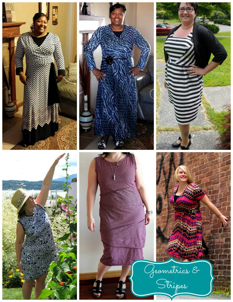 geometric dresses collage