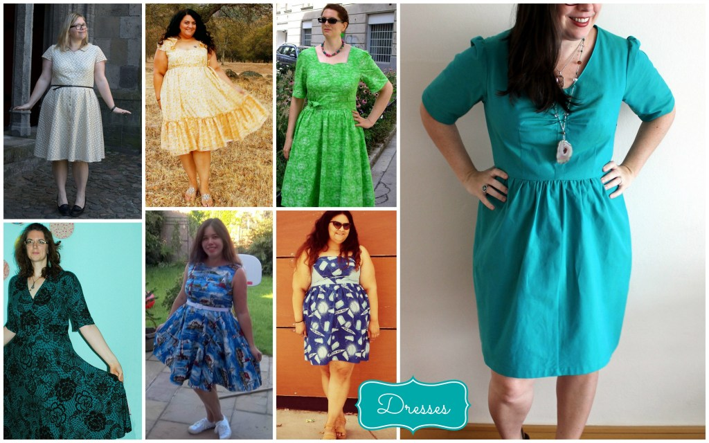 dress collage yellow green blue